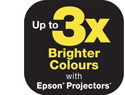 Up to 3X Brighter Colours with Epson Projectors